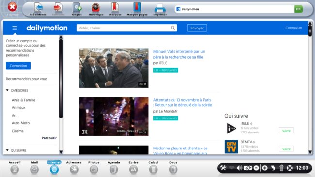 page accueil dailymotion