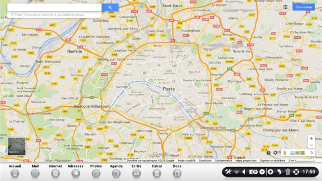page accueil google maps