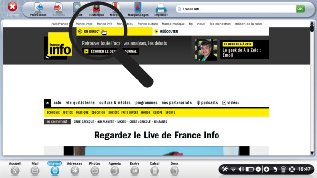 page d'accueil France info clic en direct