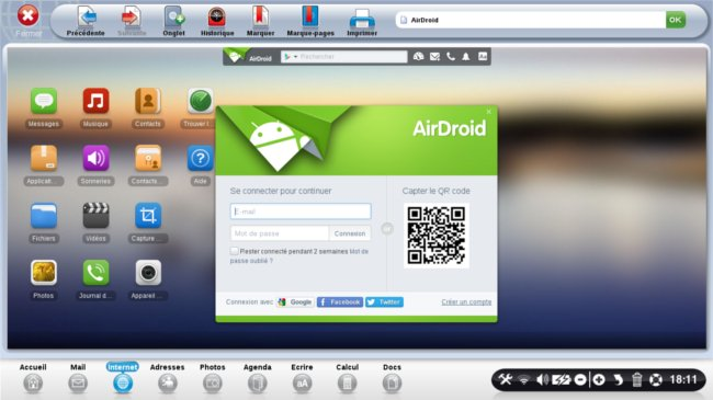 page accueil airdroid