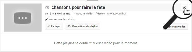 modifier titre playlists