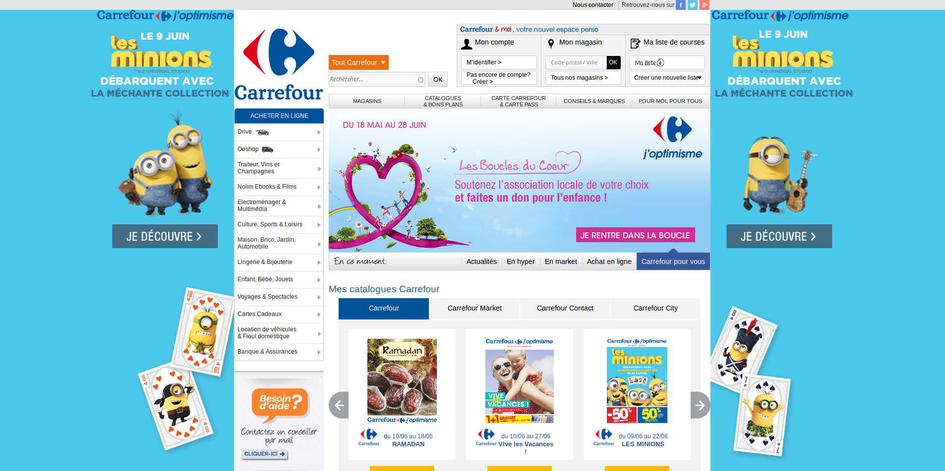 page d'accueuil carrefour