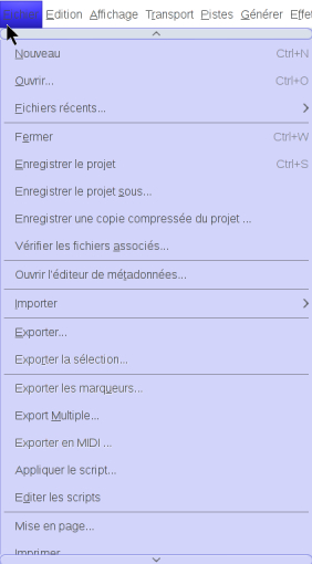 exporter l'enregistrement