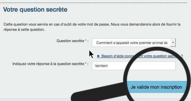 répondre question secrete