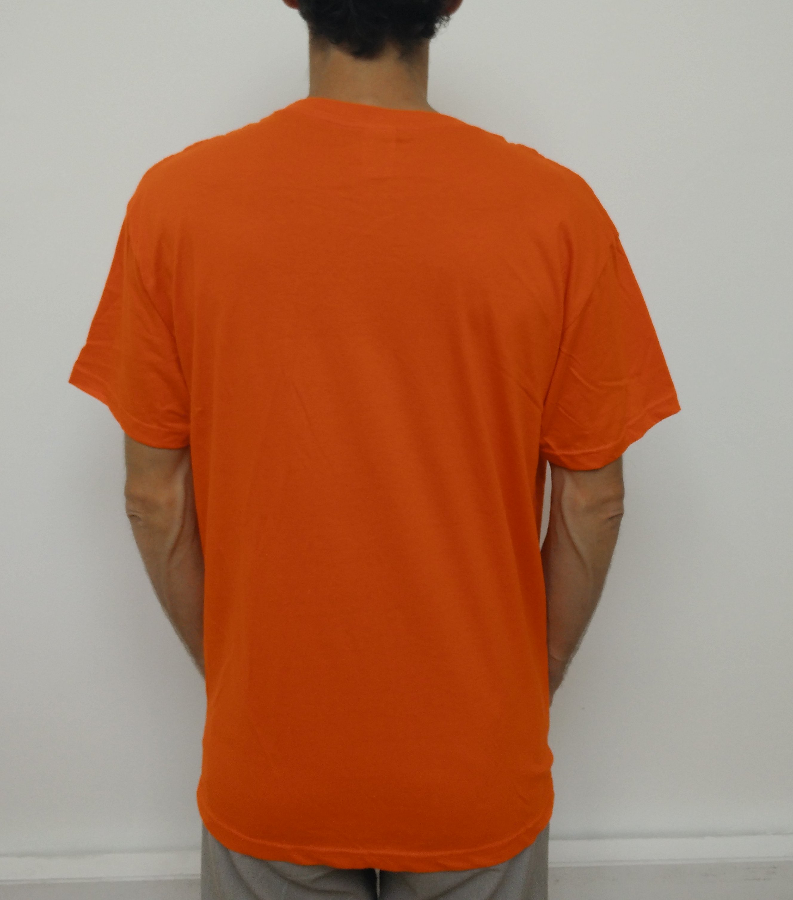 t-shirt orange dos ordissimo