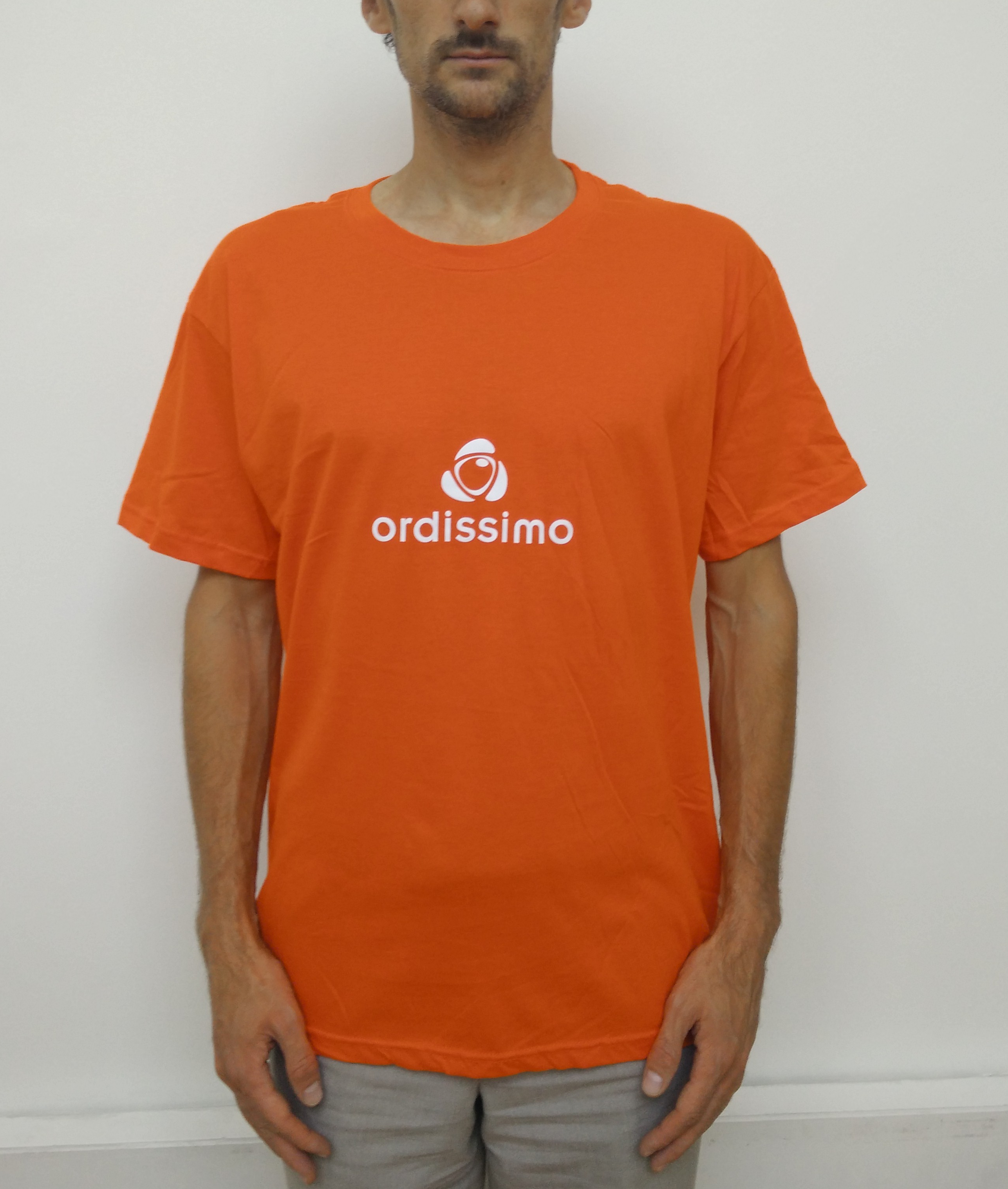t-shirt orange face ordissimo