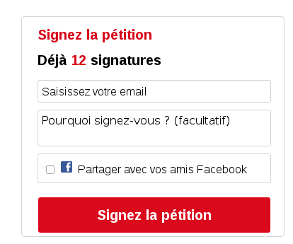 signer la pétition