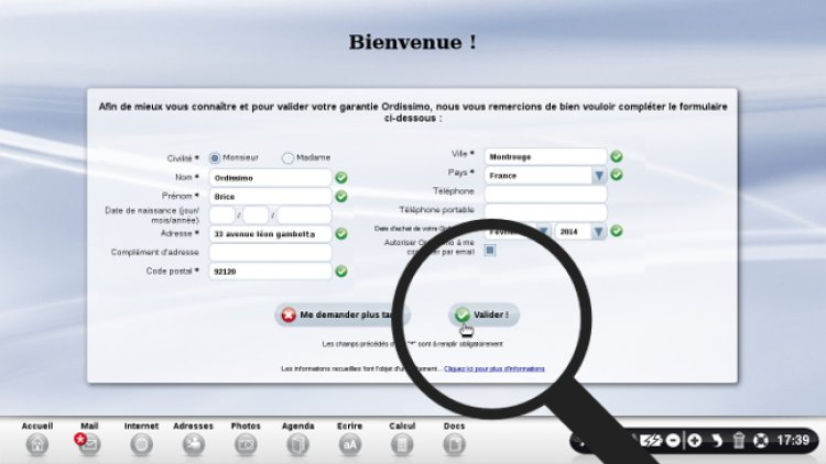 Renseigner ses informations personnelles
