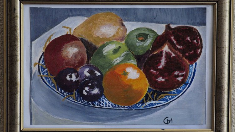 Corbeille de fruits - Acrylique - LnG